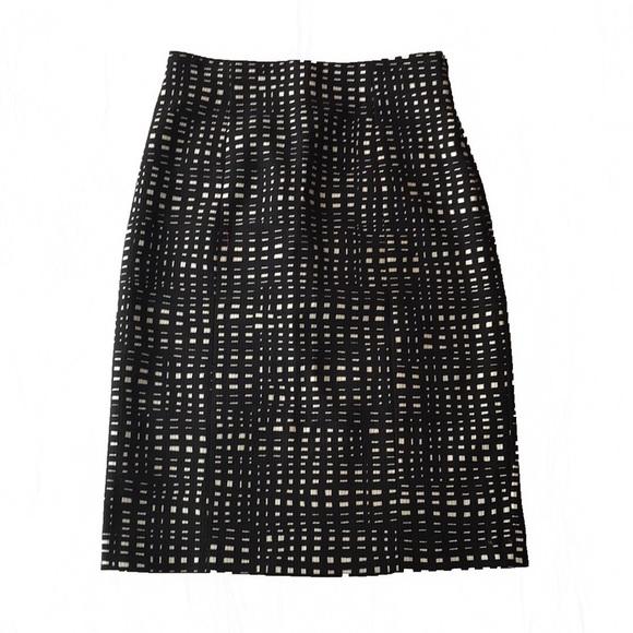 d526e4d1d8 Dresses & Skirts - Theory black & white square checkered pencil skirt